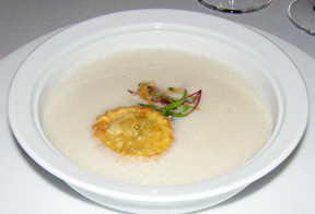 Sunchoke Soup at The Dining Room at Wheatleigh, Lenox, Massachusetts  - Photo By Luxury Experience