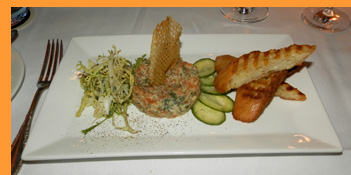 Salmon Tartar - Winston Restaurant, Mt. Kisco, NY - photo by Luxury Experience