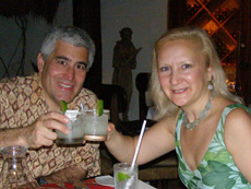 Xtabay Restaurant - Ceiba del Mar Beach & Spa Resort - Edward and Debra with Margaritas