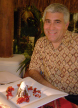 Xtabay Restaurant - Ceiba del Mar Beach & Spa Resort - Edward with Volcano dessert
