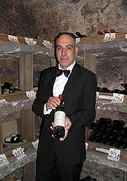 Ristorante del Cambio wine cellar Enzo Dilauro