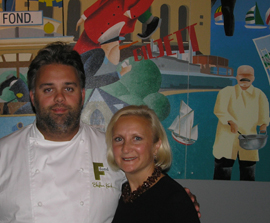 Chef Stefan Karlsson of fond and Debra C. Argen