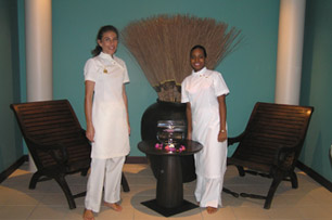 Sabine and Stephanie of The Spa at Cap Est Lagoon Resort and Spa