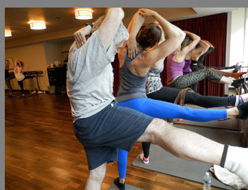 Core Fusion Barre Class - Edward Nesta -Exhale Spa and Fitness Center - Battery Wharf Hotel, Boston, MA, USA - photo by Luxury Experience