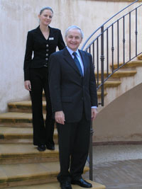 Spa Manager Birgit Engl and GM Xaver Stocker