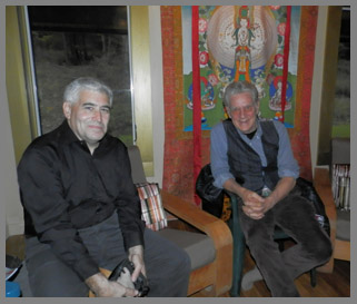 Robert Thurman and Edward Nesta atMahasukha Spa at the Menla Mountain Retreat  - photo by Luxury Experience