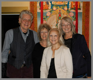 Robert Thurman, Clodagh, Debra Argen, Nena Thurman - photo by Luxury Experience