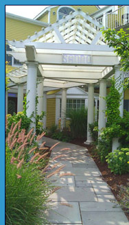 Sanno Spa Entrance - Saybrook Point Inn & Spa, Old Saybrook, CT, USA - photo by Luxury Experience