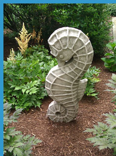 Seahorse Sculpture - Saybrook Point Inn & Spa, Old Saybrook, CT, USA - photo by Luxury Experience
