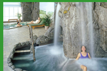 Spa at Stoweflake, Stowe, VT, USA - Bingham Hydrotherapy Waterfall