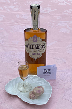 BE Chocolat Lavender chocolate and Wild Moon Lavender Liqueur- Photo By Luxury Experience