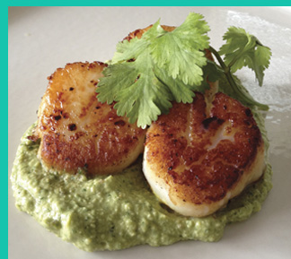 Pan-Seared Scallops - by Corinne Trang