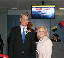Mr. Harry Hohmeister and Debra C. Argen at the Gate
