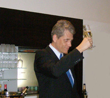 Mr. Harry Holmeister of SWISS Intl Air Lines with a Toast to the New A330-300