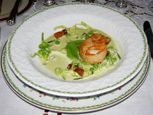 Seared Maine Scallops - Blantyre, Lenox, Ma - Photo by Luxury Experience