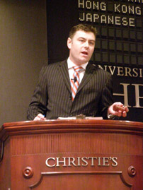 Christie's New York Finest and Rarest Wine Auction - Auctioneer Richard Brierley