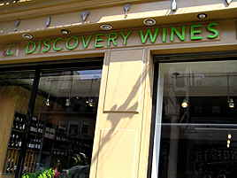 Discovery Wines Storefront