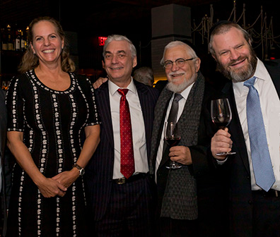 Baroness Ariane de Rothschild, Jay Buchsbaum, David Herzog, Mordy Herzog - photo by Royal Wine Corp