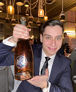 Champagne Baron de Rothschild Rose - Kosher Wine Dinner - The Fulton NYC - photo by Luxury Experience