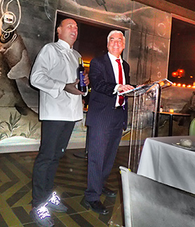 Chef Jean-Gorges Vangerichten, Jay Buchsbaum - Kosher Wine Dinner - The Fulton NYC - photo by Luxury Experience