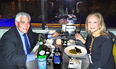 Edward F. Nesta & Debra C. Argen - Kosher Wine Dinner - The Fulton NYC - photo by Luxury Experience