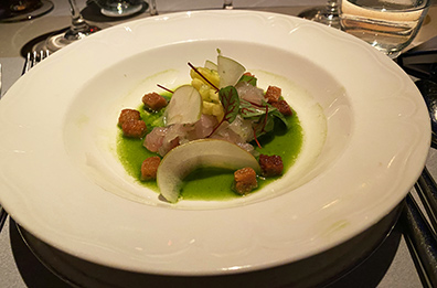 Florida Red Snapper Ceviche - Kosher Wine Dinner - The Fulton NYC - photo by Luxury Experience