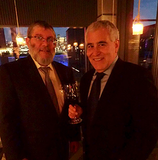 Nathan Herzog, Edward F. Nesta - Kosher Wine Dinner - The Fulton NYC - photo by Luxury Experience
