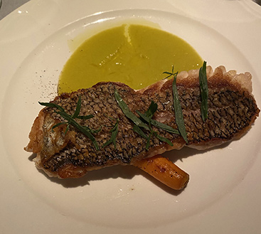 Seared Black Sea Bass - Kosher Wine Dinner - The Fulton NYC - photo by Luxury Experience