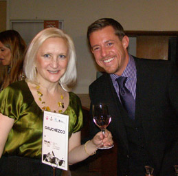Debra C. Argen and Eric Anesi, Malbec Importer at Malbec World Day in New York - Photo by Luxury Experience