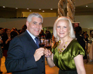Edward F. Nesta and Debra C. Argen enjoying Malbec World Day in New York - Photo by Luxury Experience