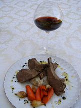 Marques de Tomares Gran Reserva 1996 with rack of lamb